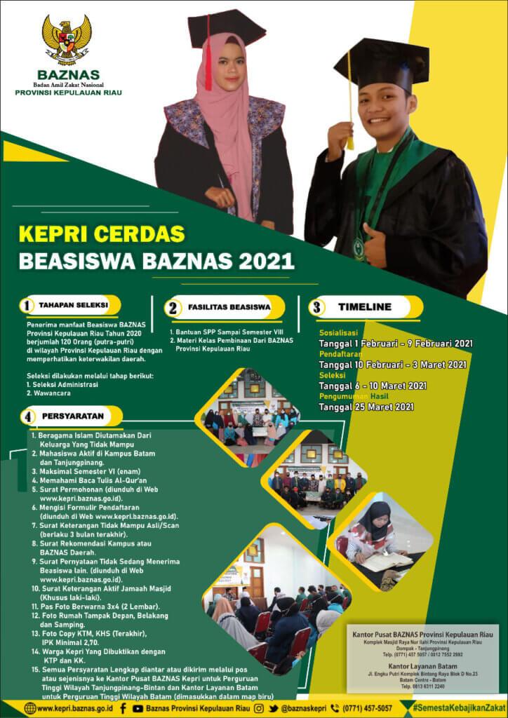 Beasiswa BAZNAS Kepri 2021
